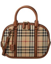 Burberry - Small Orchard Horseferry Check Satchel - Lyst