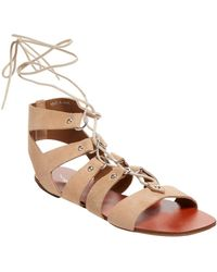 Shellys London - Ivy Suede Lace-up Sandal - Lyst