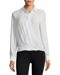 Ivanka Trump - Ruffle Collared Shirt - Lyst