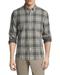 Jack Spade - Palmer Heathered Double Face Plaid Sportshirt - Lyst