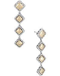 John Hardy - Palu 18k Yellow Gold & Silver Four Square Drop Earrings - Lyst
