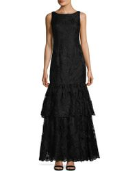 Adrianna Papell - Tiered Evening Gown - Lyst