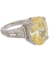 Judith Ripka Estate Silver 15.14 Ct. Tw. White Sapphire & Cz Ring