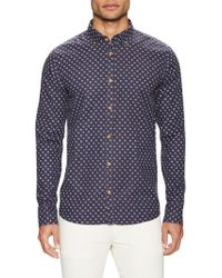 Color Siete - Victorville Cotton Printed Sportshirt - Lyst