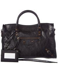 Balenciaga - Classic Metallic City Small Leather Shoulder Bag - Lyst