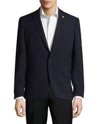 Ben Sherman - Text Solid Peak Lapel Sportcoat - Lyst