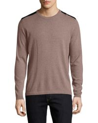 Autumn Cashmere - Cashmere Leather Patched Sweater - Lyst