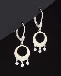 Meira T - 14k Two-tone 0.17 Ct. Tw. Diamond Drop Earrings - Lyst