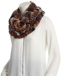 Surell - Brown Infinity Scarf - Lyst