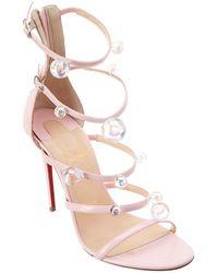 76499517f510 Christian Louboutin Atonana Specchio Leather Sandals in Metallic - Lyst