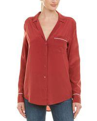 b756e178929c7 Lyst - Equipment Keira Polka-dot Washed-silk Shirt