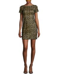 Aidan By Aidan Mattox - Sequined Embroidered Dress - Lyst