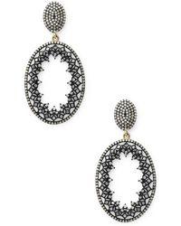 Jyoti New York - Stardust Oval Earrings - Lyst
