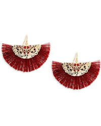 Panacea - Fringe Hoop Earrings - Lyst