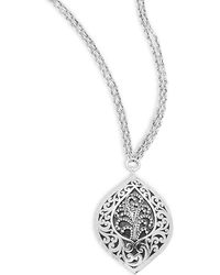 Lois Hill - Sterling Silver Cutout Pendant Necklace - Lyst