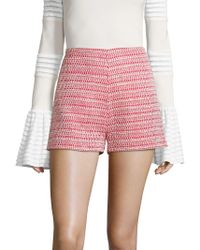 Alexis - Nelly Tweed Shorts - Lyst