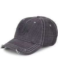 True Religion - Distressed Horseshoe Logo Baseball Cap - Lyst