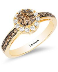 Le Vian - Chocolatier® Honey Goldtm Chocolate & Vanilla Diamond® Ring - Lyst