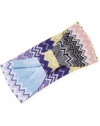 Missoni Zigzag knitted headband lE6irkMrXr