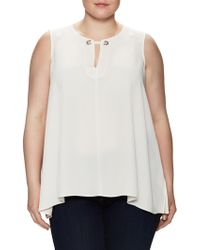 RACHEL Rachel Roy - Keyhole High Low Top - Lyst