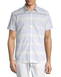 Calvin Klein Jeans - Striped Cotton Button-down Shirt - Lyst
