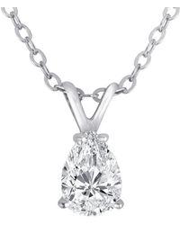 Nephora - 14k 0.18 Ct. Tw. Diamond Necklace - Lyst