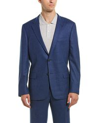 Hickey Freeman - 2pc Milburn Ii Wool & Cashmere-blend Suit With Flat Pant - Lyst