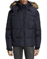 S13/nyc - Down-filled Quilted Faux Fur Puffer Jacket - Lyst