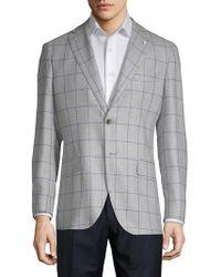 Lubiam - Window Wool & Silk Sportcoat - Lyst
