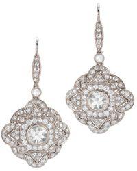 Kwiat - Vintage 18k 2.34 Ct. Tw. Diamond Drop Earrings - Lyst