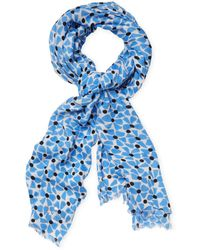 """Kate Spade - Alice Bow Dot Long Scarf, 81"""" X 32"""" - Lyst"""