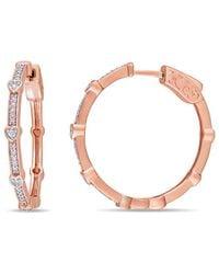 Rina Limor - Fine Jewelry Holiday Shop 10k 0.24 Ct. Tw. Diamond Hoops - Lyst