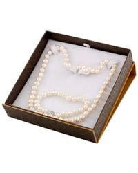 Splendid - Rhodium Plated 7-8mm Freshwater Pearl Set - Lyst