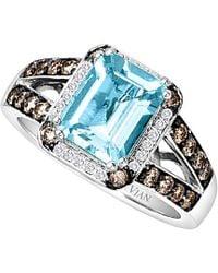 Le Vian ? 14k 2.28 Ct. Tw. Diamond & Aquamarine Ring