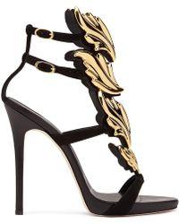 Giuseppe Zanotti Patent Leather 'cruel' Sandal With Metal 'cruel' Accessory Cruel