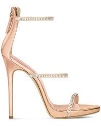 Giuseppe Zanotti - Patent Leather 'harmony' Sandal With Crystals Harmony Sparkle - Lyst