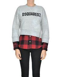 DSquared² - Contrast Hem Logo Sweatshirt - Lyst