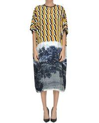 Dries Van Noten - Printed Velvet Tunic Dress - Lyst
