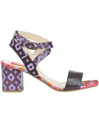 Lisa Corti - Printed Leather Sandals - Lyst