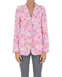 Patrizia Pepe - Women's Pink Polyester Blazer - Lyst