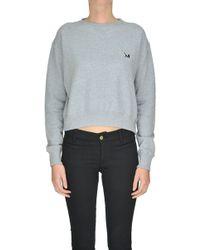 Calvin Klein Jeans - Cropped Sweatshirt - Lyst