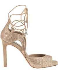 Lola Cruz - Embellished Suede Sandals - Lyst