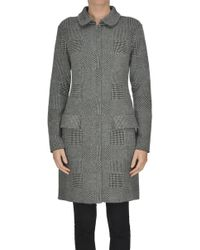 Anneclaire - Knitted Cardigan Coat - Lyst