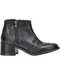 Lemarè - Studded Leather Ankle-boots - Lyst