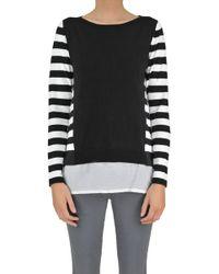 Seventy - Striped Cotton Pullover - Lyst