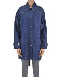 MM6 by Maison Martin Margiela - Oversized Denim Coat - Lyst