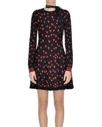 RED Valentino - Hearts Print Dress - Lyst
