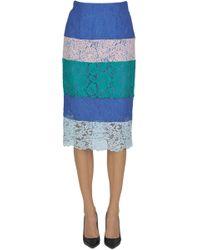 Pinko - Hokkaido Lace Pencil Skirt - Lyst