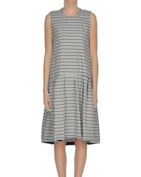 Erika Cavallini Semi Couture - Checked Print Dress - Lyst