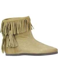 Twin Set - Fringed Suede Ankle Boots - Lyst